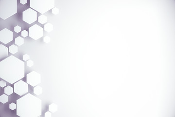 White hexagonal background