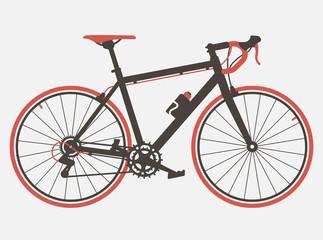 Road bicycle flat design. Retro design. Bicycle vintage style vector
