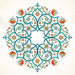 Vector decor, mandala in Eastern style.