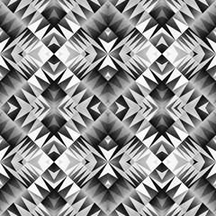 Ethnic Tribal Seamless Pattern. Geometric Ornamental illustration. Black and White Stylish Texture