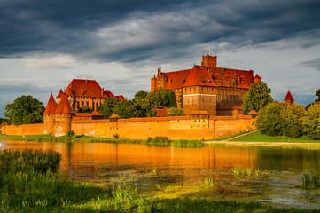Marienburg an der Nogat in der Abendsonne; Polen Wall mural