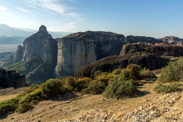 Amazing landscape with Rocks formation near Meteora, Thessaly, Greece