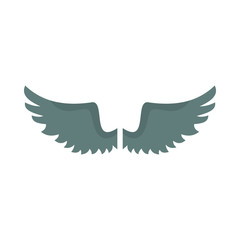 Wing flat icon for your design labels wing graphic and illustration vector object