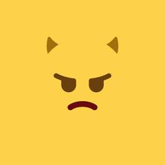 Emoji Tile Angry Devil