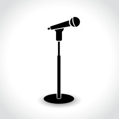 microphone stand icon on white background