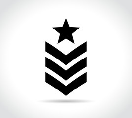 military icon on white background