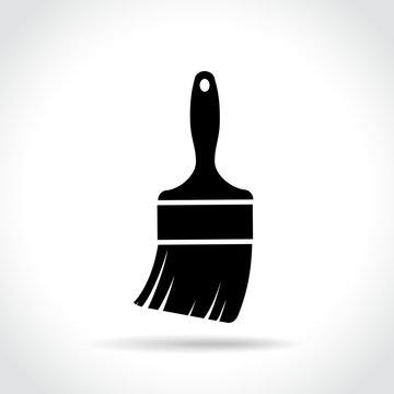 paintbrush icon on white background