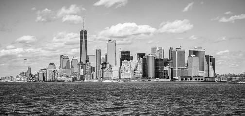 Wonderful New York Skyline of Downton Manhattan on a sunny day