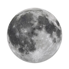 Full Moon Isolated  (Elements of this image furnished by NASA)