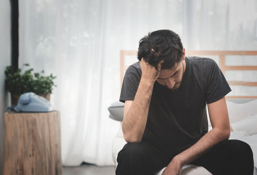 Stressed and Sad Handsome man.