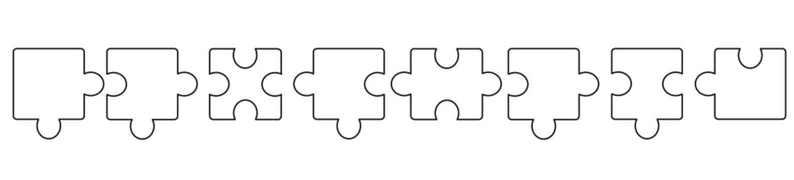 puzzle band banner hintergrund weiß leer
