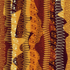 Hand-drawn abstract pattern in African style. vector