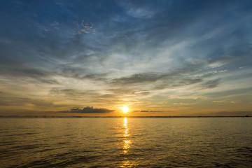 Beautiful sunset in the sea.