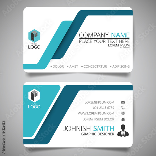 Blue modern creative business card and name cardhorizontal simple blue modern creative business card and name cardhorizontal simple clean template vector design reheart Choice Image