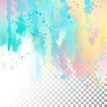 Abstract Watercolor Border