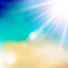 White cloud detail in blue sky with sunshine daylight.vector illustration background copy space