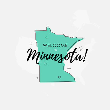 Welcome to Minnesota green sign