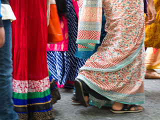 Colourful Walking Indian Dress