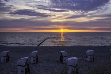 Ostseestrand im Sonnenuntergang