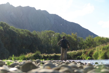 fly fishing trout new zealand river lake scene stunning scenery