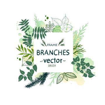 Vector nature forest illustration.