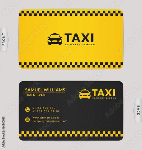 Business Card For Taxi Company Stock Image And Royalty Free Vector
