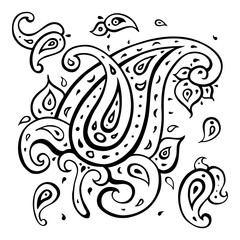 Paisley Ethnic ornament.