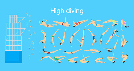 High diving set.