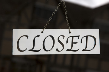 Closeup of Closed Sign