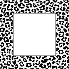 Black and white leopard frame