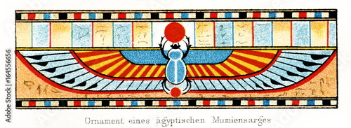 Ornament from an ancient Egyptian sarcophagus with Scarab