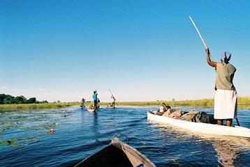 Boote auf einem Fluss