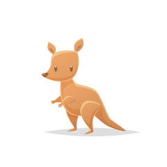 Cartoon kangaroo vector illustration