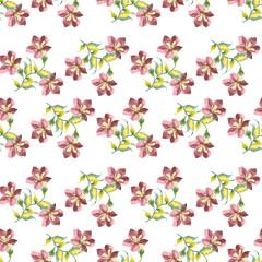 Flowers background, seamless pattern