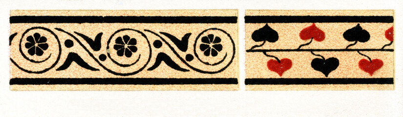 Ancient Greece - leaf and flower ornament (from Meyers Lexikon, 1896, 13/248/249)