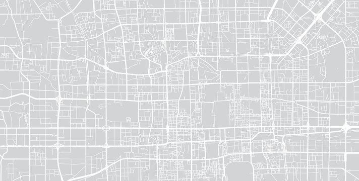 Vector city map of Beijing, China