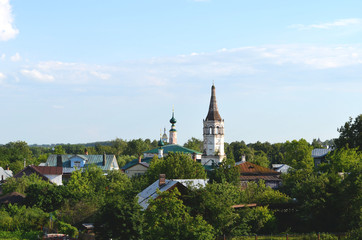 View of Suzdal on sunny day