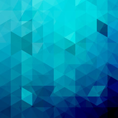 Background of blue geometric shapes. Abstract triangle geometrical background. Mosaic pattern. Vector EPS 10. Vector illustration