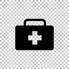 vector icon indicates the presence of first-aid. Doctor. First Aid Kit.  Vector icon illustration.