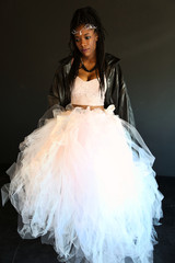 black girl in tulle skirt