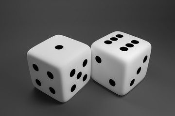Concept of dice game.,3D rendering