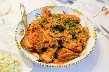 Traditional fish food in Danube Delta Romania