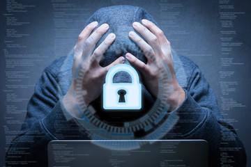 keypad lock with hacker failed