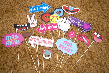 Photo booth props collection for wedding & party.