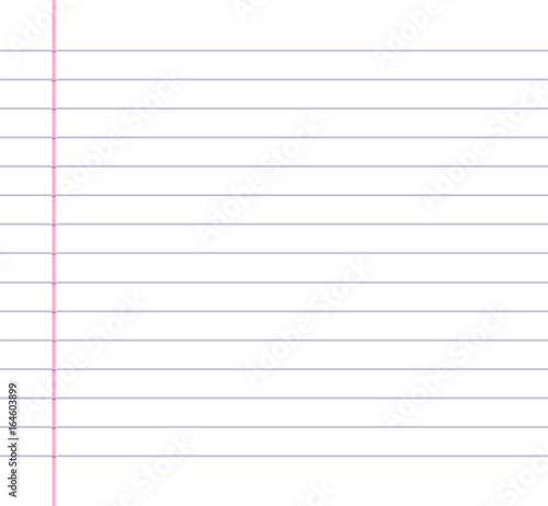 Lined Or Ruled Paper Background With Blue Horizontal Lines And A Red  Vertical Margin Line On  Line Paper Background