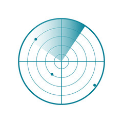 Vector Radar screen icon