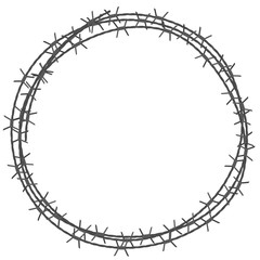 Barbed wire circle border