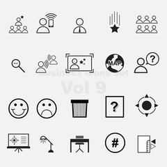 Business icons set vol 9