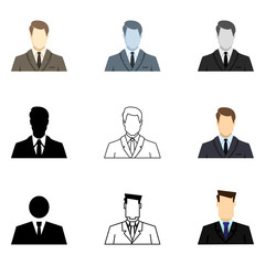 Vector Set of Businessman Icons.