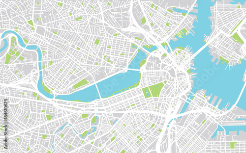 City Map Of Boston on